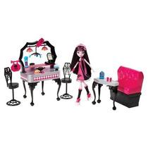 Boneca Monster High Die-ner & Draculaura Playset
