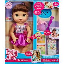 Boneca Baby Alive Hora De Comer Morena Hasbro