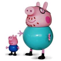 Família Da Peppa - Papai Pig E George - Estrela