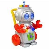 Robô De Atividades Cluz, Som E Fala Em Português! Magic Toys