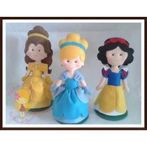 Princesas Em Feltro Branca De Neve Bela Cinderela Decoração