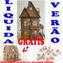 Casa Casinha Boneca Mdf P Polly Com 41 Móveis Lindos Bonecas