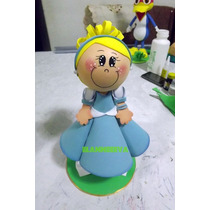 Boneca Princesa Cinderela 3d Eva