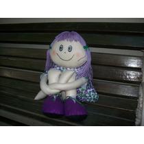 Boneca Perna Longa, Em Feltro 70 Cm