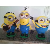 Boneco Em Eva 3d Minions Kit 3 Pçs