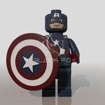 Capitão America Marvel Super Heroes Decool Compatível Lego