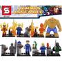 Lego Kit 8 Bonecos Quarteto Fantastico Super Heroes
