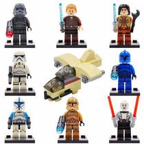 Kit Lego Star Wars - 8 Bonecos E 1 Nave Espacial
