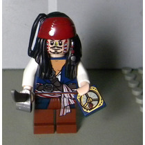 Capitão Jack Sparrow Canibal - Lego Piratas Do Caribe