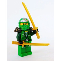 Boneco Lego Ninjago Lloyd Zx Ninja Verde 2 Espadas Douradas