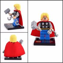 Thor Marvel Lego Playmobil Bloco D Montar Vingadores Hulk