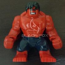 Red Hulk Vermelho Modelo Grande - Decool Compatível Com Lego