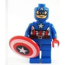 Boneco Lego Marvel Capitão America Frete Gratis (sem Caixa)