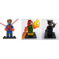 Kit Bonecos X-men Ciclope, Woverine E Fenix - Tipo Lego
