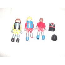 Lote Com 3 Bonecos E Acessórios Diversos De Playmobil