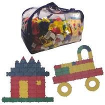 Brinquedo Pedagógico Sacolão Criativo Monta Lig C/1000 Peças
