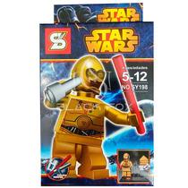 C-3po Robo Dourado Star Wars Sluban Compatível Com Lego