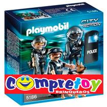 Unidade Especial Da Polícia 15 Peças 5186 - Original Sunny