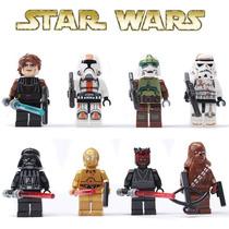 Tipo Lego Star Wars,darth Vader,c3po,chewbacca,anaquim,sith.