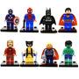 Kit 8 Mini Figuras Super Heroes Marvel.