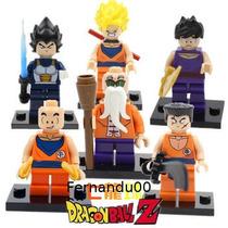 Dragon Ball Z - Bonecos Goku, Vegeta, Mestre Kame, Gohan