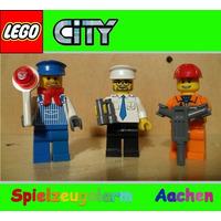 Lego City - 03 Bonecos City Capitão Maquinista Construtor