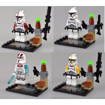 Blocos De Montar Star War Clone Troopers 4 Modelos