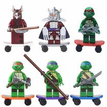 Conjunto Tartarugas Ninjas - Mini Figuras - Lego Style