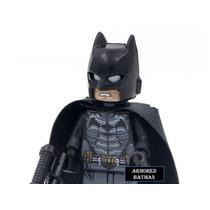 Minifigure Lego Compatível Armored Batman Arkham Com Arma