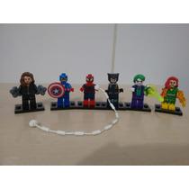 Lego Wolverine Homem Aranha Capitão América Coringa Fenix