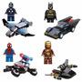 4 Super Heroes + 4 Carros - Batman, Homem Aranha, Iron Man
