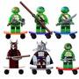 Lego Tartarugas Ninjas - Similar Lego - 6 Bonecos