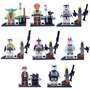 Kit Lego Star Wars - Mestre Yoda E Capitão Rex - 8 Bonecos