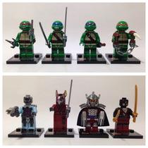 Tipo Lego - Kit 8 Bonecos - Tartarugas Ninja