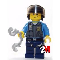 Lego Boneco Policial Elite Capacete - City - Frete R$5,00