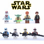 Coleção Star Wars Com 8 Minifiguras - Compatível Com Lego