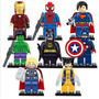 Marvel Super Heroes Kit 8 Bonecos Lego Blocos De Montar