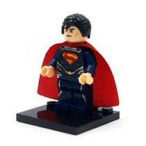 Kit De 1 Superman + 1 Batman Minifigure Lego Compatíveis