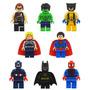 Lego Marvel Avengers 8 Peças Batman Super Man Hulk Thor