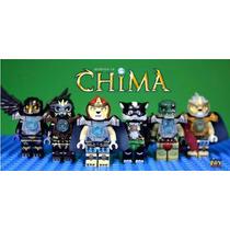 6 Minifiguras Chima - Similar Ao Lego