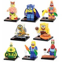 Kit Lego Bob Esponja - 8 Bonecos