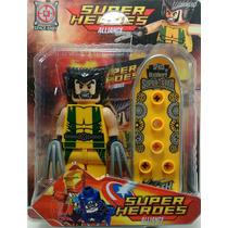 Boneco Wolverine Lego De Montar + Acessório