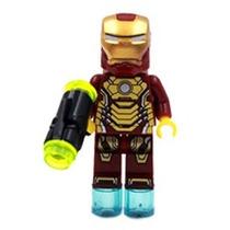 Bloco De Montar Homem De Ferro Iron Man Boneco Novo