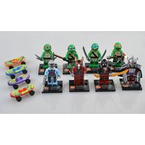 Kit Bloco De Montar As Tartarugas Ninjas - 08 Bonecos