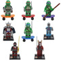 Lego Tartarugas Ninjas Minifigures - 8 Bonecos