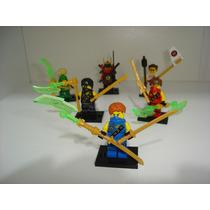 Ninja Go 6 Bonecos Griffin Turner Jay Kai Lloyd = Lego Ninja