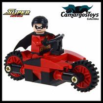 Robin Batman Dc Minifigura Similar Lego #ctc