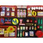 Kit 53 Itens Mini Hiper Mercado Compras Panelinha Frutas