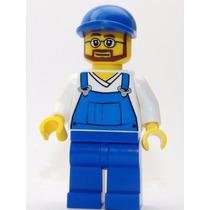 Lego Boneco Homem Macacão - City - Frete R$5,00