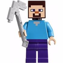 Lego Original Minecraft - Steve E Picareta 21113 - Frete R$7